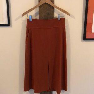 Burnt Orange Midi with Pockets